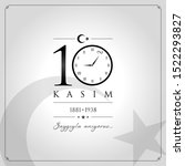 10 kasim vector illustration. ... | Shutterstock .eps vector #1522293827