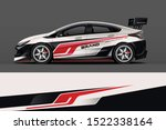 car decal wrap design vector.... | Shutterstock .eps vector #1522338164