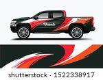 truck decal wrap design... | Shutterstock .eps vector #1522338917