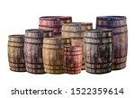 barrel group dark brown and... | Shutterstock . vector #1522359614