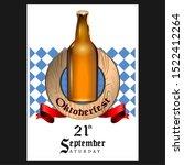 oktoberfest poster with text... | Shutterstock .eps vector #1522412264