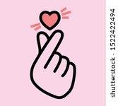 korean love sign  valentine's... | Shutterstock .eps vector #1522422494