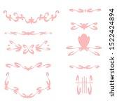 delicate slender graceful pink... | Shutterstock .eps vector #1522424894