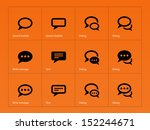 speech bubble icons on orange... | Shutterstock . vector #152244671
