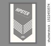 hipster poster illustration.... | Shutterstock .eps vector #1522453574