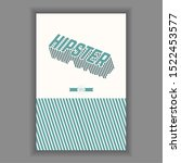 hipster poster illustration.... | Shutterstock .eps vector #1522453577