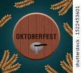 oktoberfest poster with a beer... | Shutterstock .eps vector #1522453601