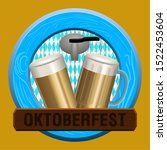 oktoberfest poster with a beer... | Shutterstock .eps vector #1522453604