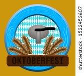 oktoberfest poster with a... | Shutterstock .eps vector #1522453607
