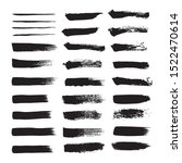 vector set black brush stroke. | Shutterstock .eps vector #1522470614