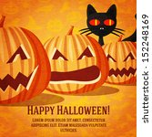 happy halloween greeting card... | Shutterstock .eps vector #152248169