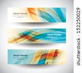 website header colorful...   Shutterstock .eps vector #152250029
