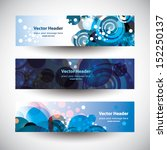 website header colorful... | Shutterstock .eps vector #152250137