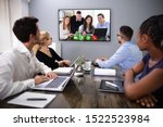businesspeople sitting in a... | Shutterstock . vector #1522523984