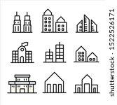 simple set of buildings modern... | Shutterstock .eps vector #1522526171