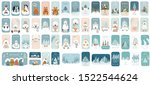 cute winter holiday sticker... | Shutterstock .eps vector #1522544624