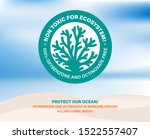 non toxic for ecosystem ... | Shutterstock .eps vector #1522557407