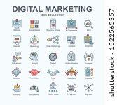 digital online marketing web... | Shutterstock .eps vector #1522565357