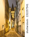 Small photo of Narrow street in Cologne Germany