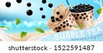 bubble tea banner ads with... | Shutterstock . vector #1522591487