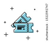 black cinema ticket icon... | Shutterstock .eps vector #1522592747