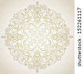 vector baroque ornament in...   Shutterstock .eps vector #152261117
