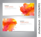 design banner with watercolor... | Shutterstock .eps vector #1522636901