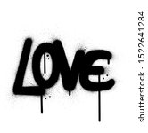 Graffiti Love Word Sprayed In...