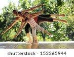family meditation in yoga club | Shutterstock . vector #152265944