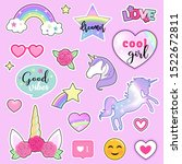 set of colorful stickers with...   Shutterstock .eps vector #1522672811