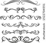 hand drawn vector dividers.... | Shutterstock .eps vector #1522704551
