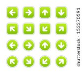 green sticker icon with arrow...