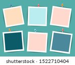 empty photo frames on a dark... | Shutterstock .eps vector #1522710404