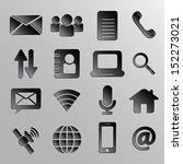 web icons 3d black style eps 10 ... | Shutterstock .eps vector #152273021