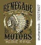 renegade motors vintage design... | Shutterstock .eps vector #152273027