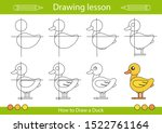 drawing tutorial. how to draw a ... | Shutterstock .eps vector #1522761164
