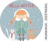 hello winter. vector... | Shutterstock .eps vector #1522766261
