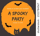 invitation for spooky party... | Shutterstock . vector #1522784567