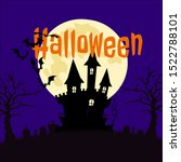 halloween session conceptual... | Shutterstock .eps vector #1522788101