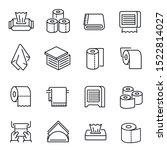 napkins and toilet paper vector ... | Shutterstock .eps vector #1522814027