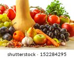 autumn fruits and vegetables | Shutterstock . vector #152284295