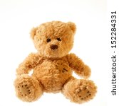 old patched brown teddy bear... | Shutterstock . vector #152284331