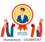 employee of the month... | Shutterstock .eps vector #1522845767