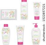 set of white girl cosmetic... | Shutterstock .eps vector #1522857221