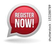 red register now speech bubble | Shutterstock .eps vector #152288789