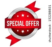 red round special offer button... | Shutterstock .eps vector #152288831