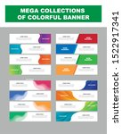 mega collection of colorful...   Shutterstock .eps vector #1522917341