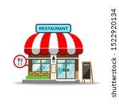 vector restaurant design... | Shutterstock .eps vector #1522920134