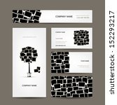 business cards design  photo... | Shutterstock .eps vector #152293217