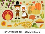 thanksgiving symbols and icons  ...   Shutterstock .eps vector #152295179